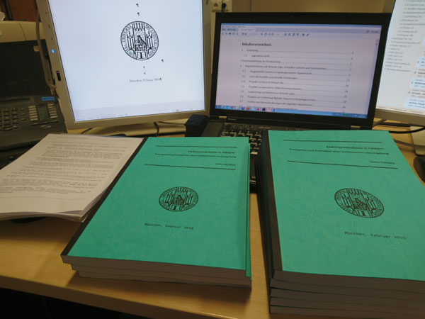 Dissertation Elektronenbahnen in Feldern