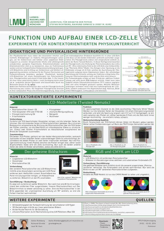 Poster Experimente LCD-Zelle